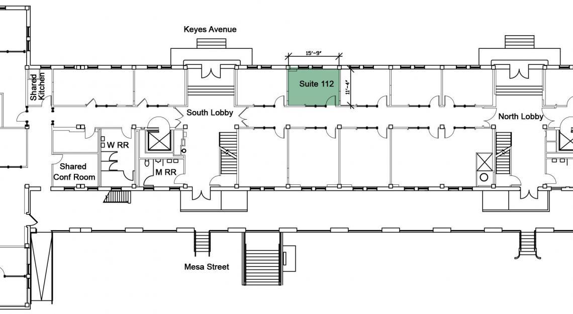 Floor plan fo suite 112