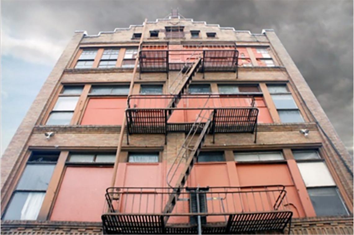 Exterior image facade of 447 Minna Street.