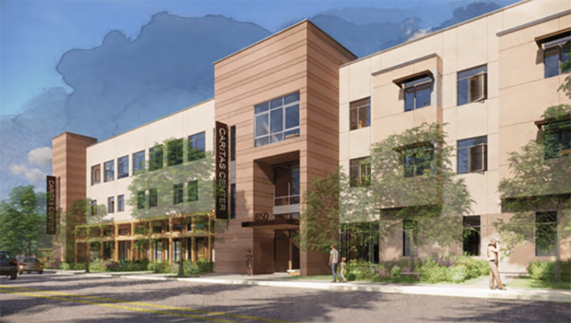 Rendering of the new Caritas Center