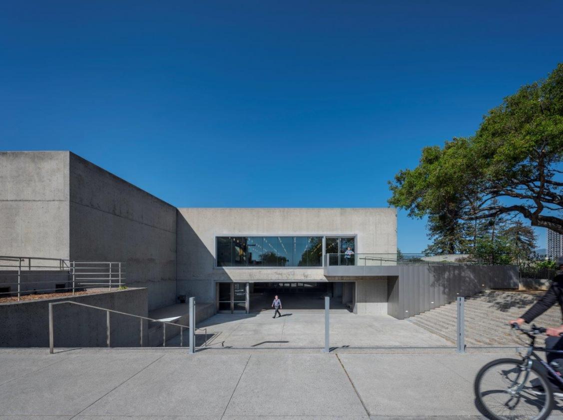 Museum exterior, steps to entrance.